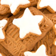 Closeup of christmas cookies — Stock Photo
