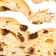 Closeup of a stollen — Stock Photo