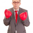 Business person with boxing gloves — Stock Photo #16196571