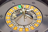 Roulette wheel with ball — Стоковое фото