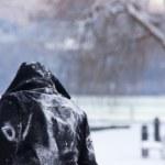 Person in a snowscape — Stock Photo