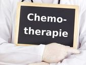 Doctor shows information: chemotherapy — Stock Photo