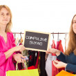 On shopping tour: compulsive buying — Stock Photo