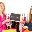 On shopping tour: shopping frenzy — Stock Photo