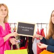 Stock Photo: On shopping tour: shopaholism