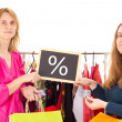 On shopping tour: percent — Stock Photo