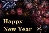Happy New Year with firework — Stock Photo