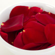 Rose petals in a bowl - Stock Photo