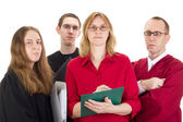 Conducting a lawsuit — Stock Photo