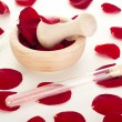 Rose petals with mortar — Stock Photo #18800407