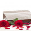 Roses in a bag - Stockfoto