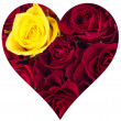 Stock Photo: Heart of roses