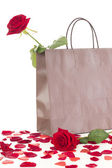 Rose in a bag — Stock Photo