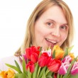 Royalty-Free Stock Photo: Woman with tulips