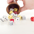Stock Photo: Throwing dice