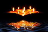 Tea light candles — Stock Photo