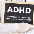 Blackboard : ADHD : Italian language - Stock Photo