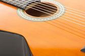 Closeup of a guitar — Stock Photo
