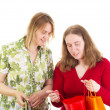 Two women on shopping tour — Stock Photo