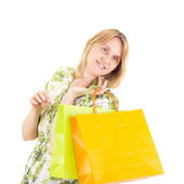 Beautiful woman on shopping tour — Stock Photo