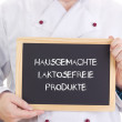 Hausgemachte laktosefreie Produkte - Stock Photo