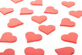 Background with a lot of red hearts — Stock Photo
