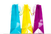 What do you think is in these shopping bags? — Foto de Stock