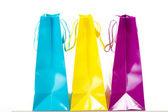 ¿qué crees que es en estos bolsos de compras? — Foto de Stock