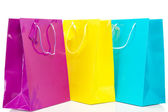 Shopping bags on shopping tour — Stock Photo