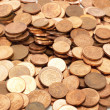 Donating lot of euro coins for important help in other countries — Foto de Stock