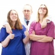 Having fun at work in medical industry with nice people — Stock Photo #28328983