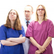 Stock Photo: Professional medical doctor team waiting for next patient