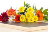 Happy Birthday and having joy over this beautiful bouquet! — Stock Photo