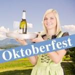 Oktoberfest waitress — Stock Photo