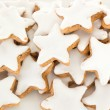 Stock Photo: Closeup of star shaped cinnamon biscuit