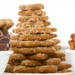 Close-up of fresh baked christmas cookies — Stock Photo #37573289