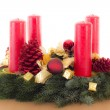 Beautiful advent wreath for christmas time — Stock Photo