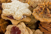 Fresh baked cookies for christmas — Stock Photo
