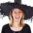 Stock Photo: Hag in Middle Ages with evil laughing