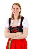 Mujer vestida de bávaro — Foto de Stock