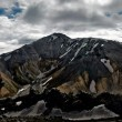 Landmannalaugar and lava field — Stock Photo