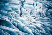 Ice crack in Skaftafell — Stock Photo