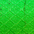 Stock Photo: Old and dirty green textured window pane