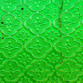 Old and dirty green textured window pane — Stock Photo