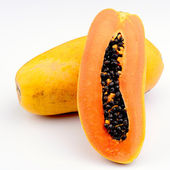 Papaya on white background — Stock Photo