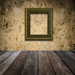 Retro frame over grunge wallpaper — Stock Photo