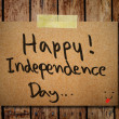 4th of July independence day note paper with wooden background — Stock Photo #27421643