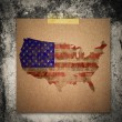 Stock Photo: 4th of July Grunge Texture Paper note นืgrunge wall backgrou