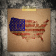4th of July Grunge Texture Paper note นืgrunge wall backgrou — Stock Photo