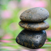 Zen stone on defocus background2 — Stock Photo